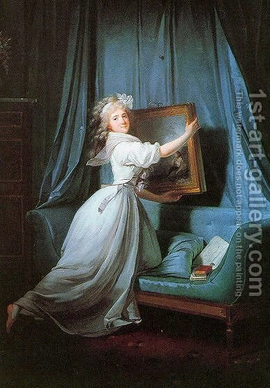 Mademoiselle Rosalie Duthé 1792 by Henri Pierre Danloux - Reproduction Oil Painting