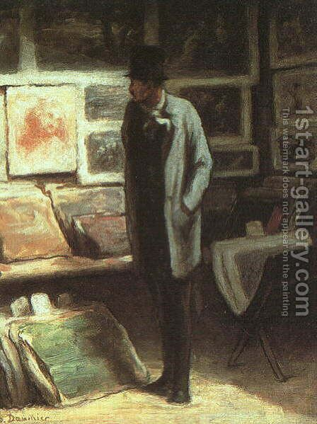 The Print Collector 1857-63 by Honoré Daumier - Reproduction Oil Painting