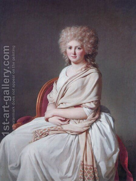 Anne-Marie-Louise Thélusson, Comtesse de Sorcy 1790 by Jacques Louis David - Reproduction Oil Painting