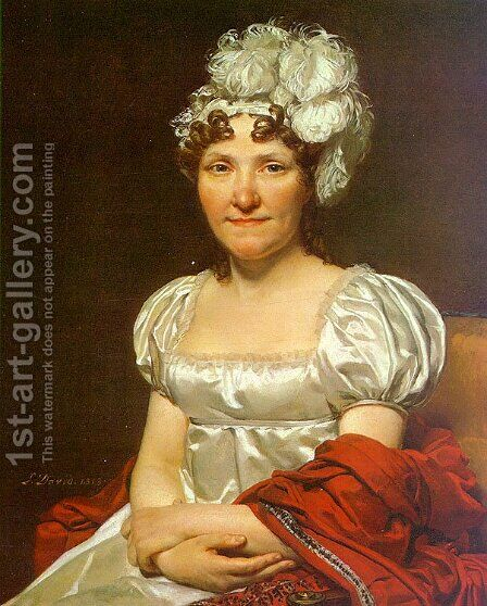Portrait of Charlotte David (Madame David) 1813 by Jacques Louis David - Reproduction Oil Painting