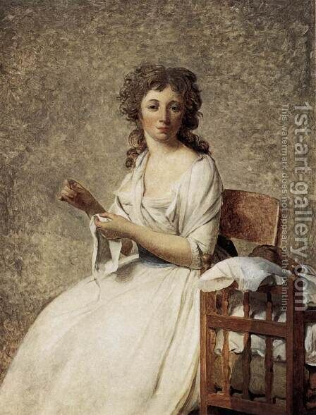 Portrait of Madame Adelaide Pastoret 1791-92 by Jacques Louis David - Reproduction Oil Painting
