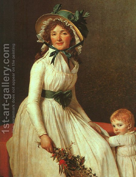 Portrait of Madame Seriziat 1795 by Jacques Louis David - Reproduction Oil Painting