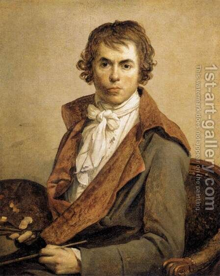 Portrait of the Artist 1794 by Jacques Louis David - Reproduction Oil Painting