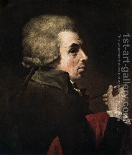 Self-Portrait c. 1790 by Jacques Louis David - Reproduction Oil Painting