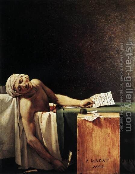 The Death of Marat 1793 by Jacques Louis David - Reproduction Oil Painting