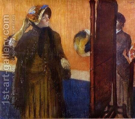 At the Milliner's 1882 by Edgar Degas - Reproduction Oil Painting