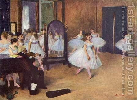 Dance Class 1871 by Edgar Degas - Reproduction Oil Painting