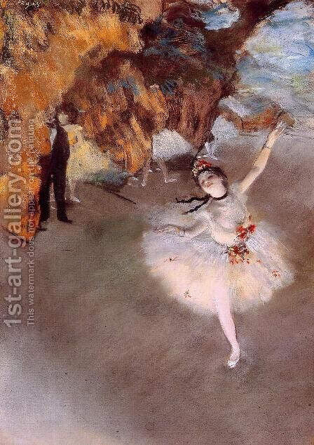 The Star 1876-77 by Edgar Degas - Reproduction Oil Painting