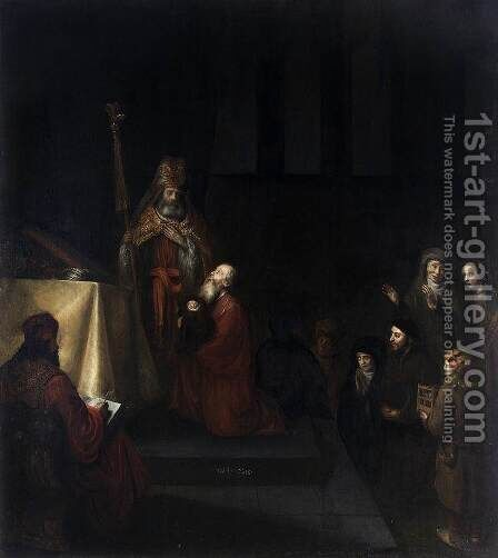 Presentation in the Temple 1655 by Abraham van Dijck - Reproduction Oil Painting