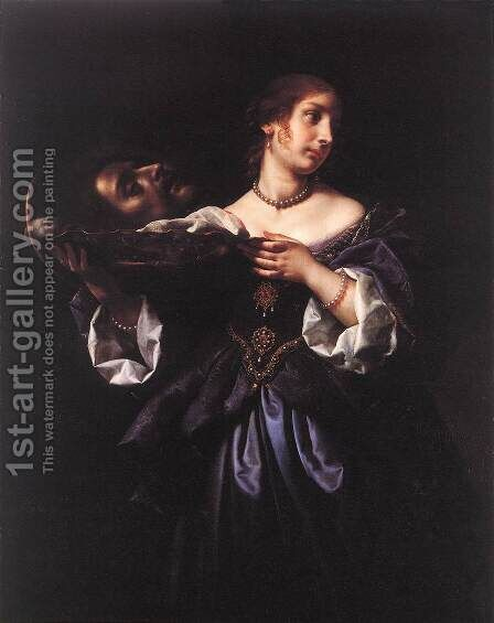 Salome with the Head of St John the Baptist 1665-70 by Carlo Dolci - Reproduction Oil Painting