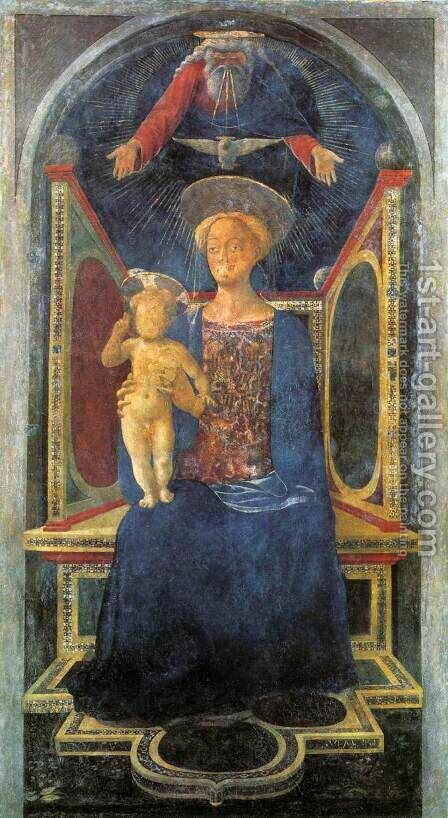 Madonna and Child c. 1435 by Domenico Veneziano - Reproduction Oil Painting