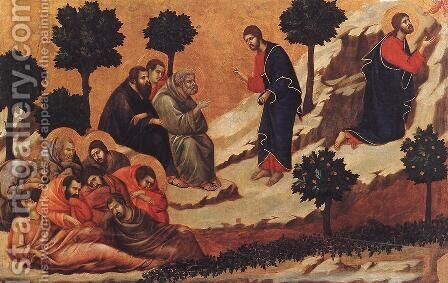 Agony in the Garden 1308-11 by Duccio Di Buoninsegna - Reproduction Oil Painting