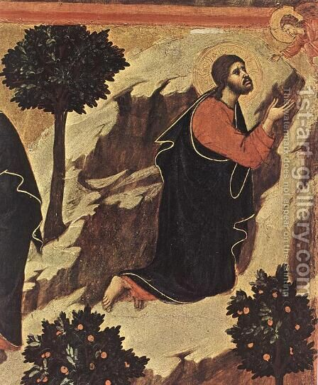 Agony in the Garden (detail 1) 1308-11 by Duccio Di Buoninsegna - Reproduction Oil Painting