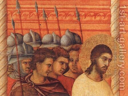 Christ Before Pilate Again (detail) 1308-11 by Duccio Di Buoninsegna - Reproduction Oil Painting