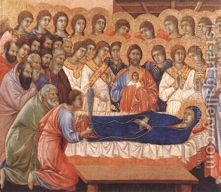 Death of the Virgin 1308-11 by Duccio Di Buoninsegna - Reproduction Oil Painting