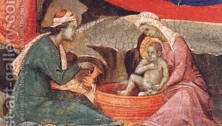 Nativity (detail) 1308-11 by Duccio Di Buoninsegna - Reproduction Oil Painting