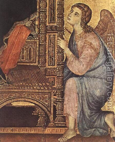 Rucellai Madonna (detail 3) 1285 by Duccio Di Buoninsegna - Reproduction Oil Painting