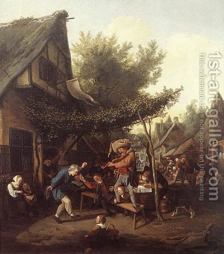 Village Feast 1684 by Cornelis Dusart - Reproduction Oil Painting