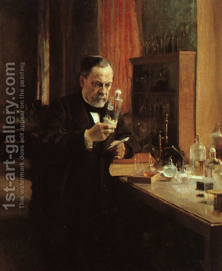 Portrait of Louis Pasteur 1885 by Albert Edelfelt - Reproduction Oil Painting
