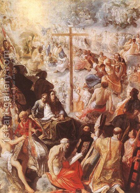 Glorification of the Cross c. 1605 by Adam Elsheimer - Reproduction Oil Painting