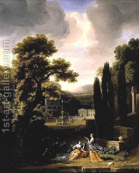 Classical Landscape with Figures by Jacob Esselens - Reproduction Oil Painting