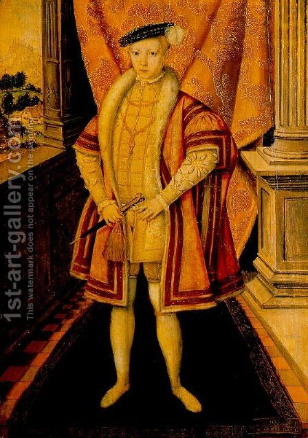Edward VI 1547-53 by Hans Eworth - Reproduction Oil Painting