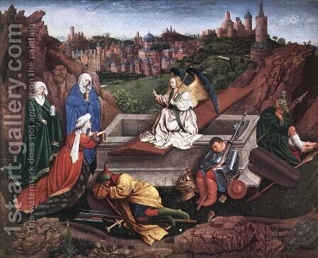 The Three Marys at the Tomb by Hubert van Eyck - Reproduction Oil Painting
