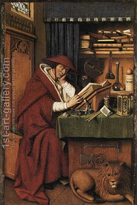 St Jerome 1442 by Jan Van Eyck - Reproduction Oil Painting