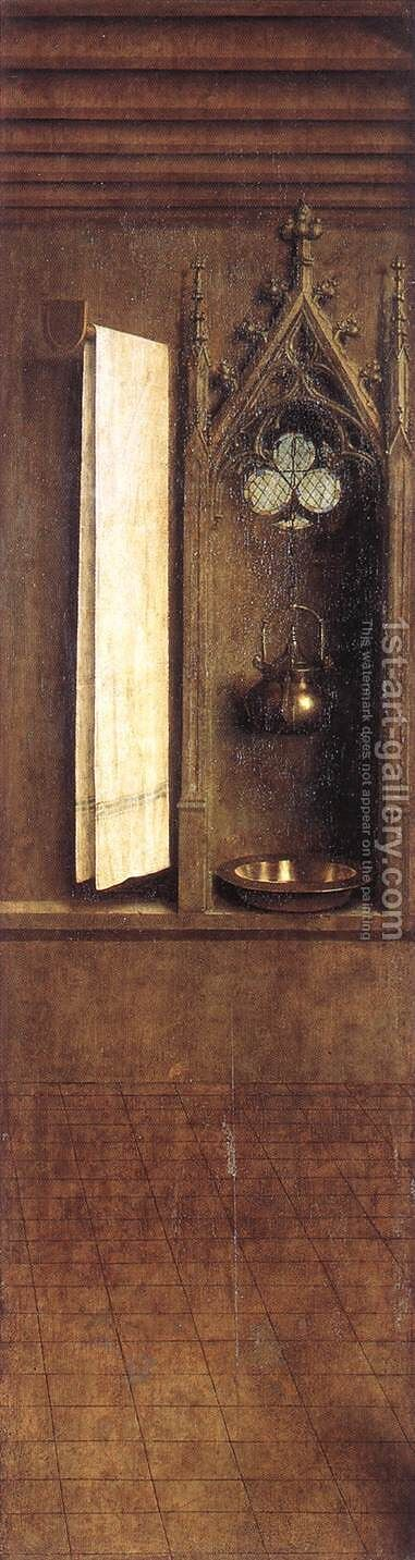 The Ghent Altarpiece- Niche with Wash Basin 1432 by Jan Van Eyck - Reproduction Oil Painting