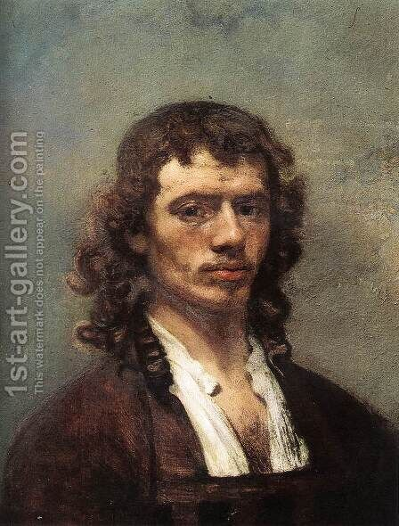 Self-Portrait c. 1645 by Carel Fabritius - Reproduction Oil Painting