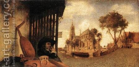 View of the City of Delft 1652 by Carel Fabritius - Reproduction Oil Painting