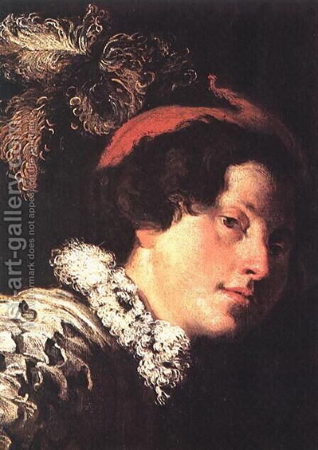David (detail) c. 1620 by Domenico Fetti - Reproduction Oil Painting