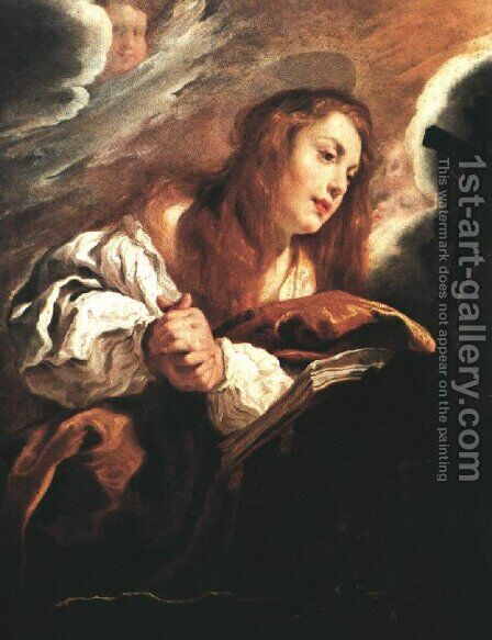 Saint Mary Magdalene Penitent 1615 by Domenico Fetti - Reproduction Oil Painting