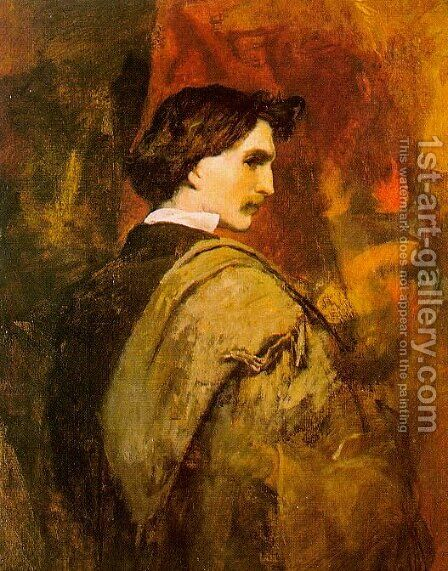 Self-Portrait by Anselm Friedrich Feuerbach - Reproduction Oil Painting