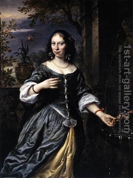 Portrait of Margaretha Tulp 1655 by Govert Teunisz. Flinck - Reproduction Oil Painting