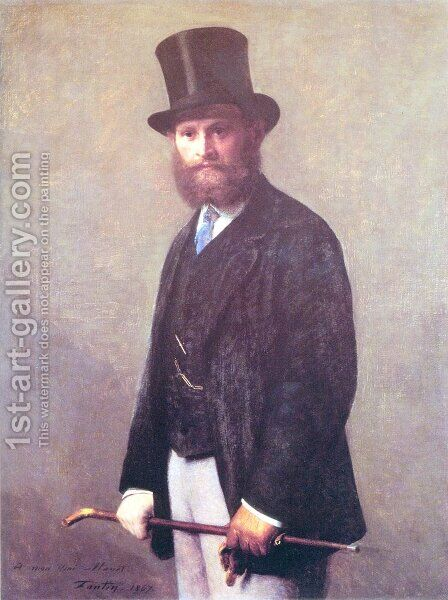 Portrait of Edouard Manet 1867 by Ignace Henri Jean Fantin-Latour - Reproduction Oil Painting