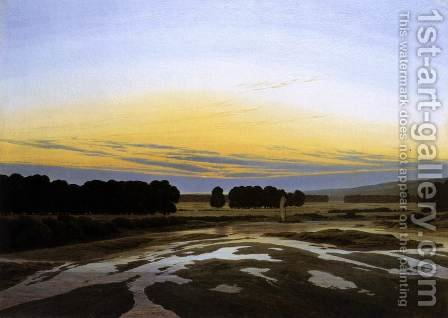 The Grosse Gehege near Dresden c. 1832 by Caspar David Friedrich - Reproduction Oil Painting
