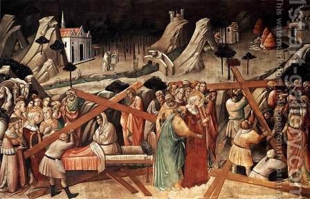 Discovery of the True Cross 1380s by Agnolo Gaddi - Reproduction Oil Painting
