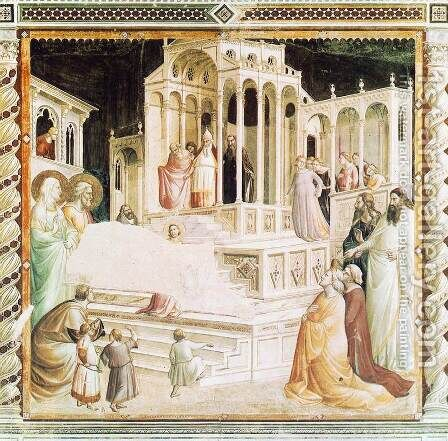 Presentation of Mary in the Temple 1327-30 by Agnolo Gaddi - Reproduction Oil Painting