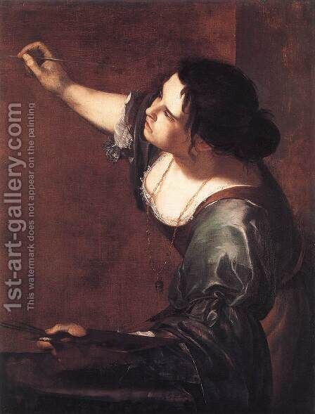 Self-Portrait as the Allegory of Painting 1630s by Artemisia Gentileschi - Reproduction Oil Painting