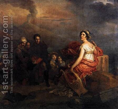 Corinne at Cape Miseno 1819 by Baron Francois Gerard - Reproduction Oil Painting