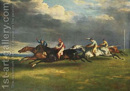 The Epsom Derby 1821 by Theodore Gericault - Reproduction Oil Painting