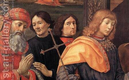 Adoration of the Magi (detail 2) 1488 by Domenico Ghirlandaio - Reproduction Oil Painting
