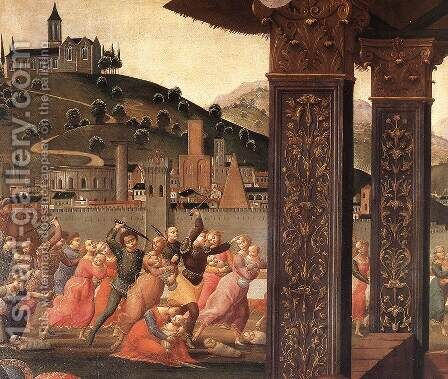 Adoration of the Magi (detail 3) 1488 by Domenico Ghirlandaio - Reproduction Oil Painting