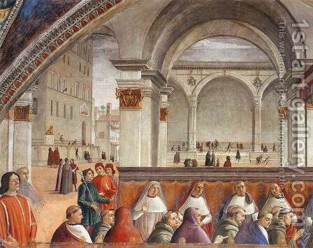 Confirmation of the Rule (detail 2) 1482-85 by Domenico Ghirlandaio - Reproduction Oil Painting