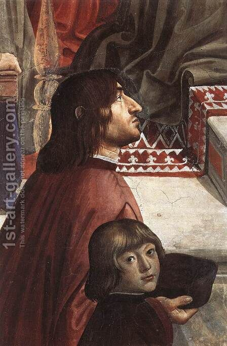 Confirmation of the Rule (detail 4) 1482-85 by Domenico Ghirlandaio - Reproduction Oil Painting