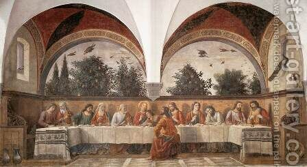 Last Supper 1480 by Domenico Ghirlandaio - Reproduction Oil Painting