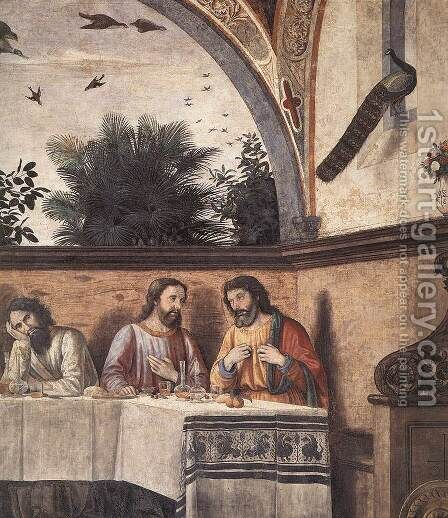 Last Supper (detail 4) 1480 by Domenico Ghirlandaio - Reproduction Oil Painting