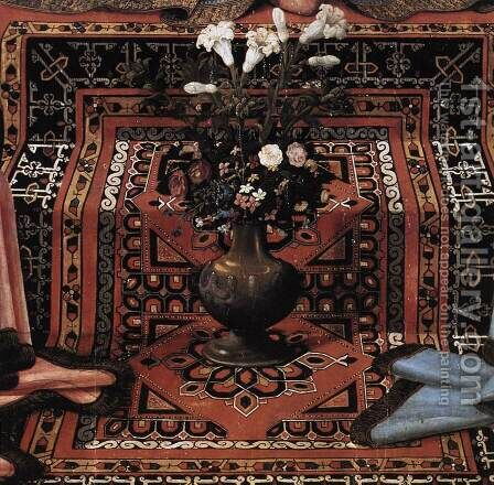 Madonna and Child Enthroned with Saints (detail) c. 1483 by Domenico Ghirlandaio - Reproduction Oil Painting