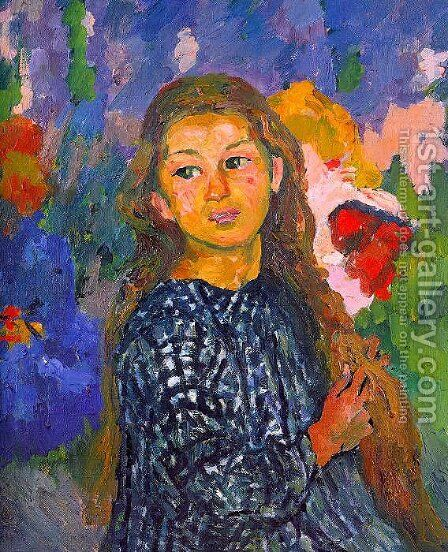 Portrait of Ottilia Giacometti 1912 by Giovanni Giacometti - Reproduction Oil Painting